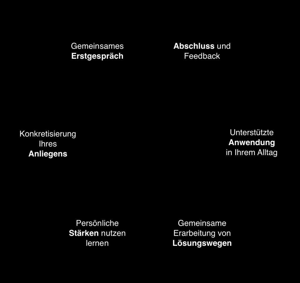 Bild zeigt den Ablauf eines online coachings